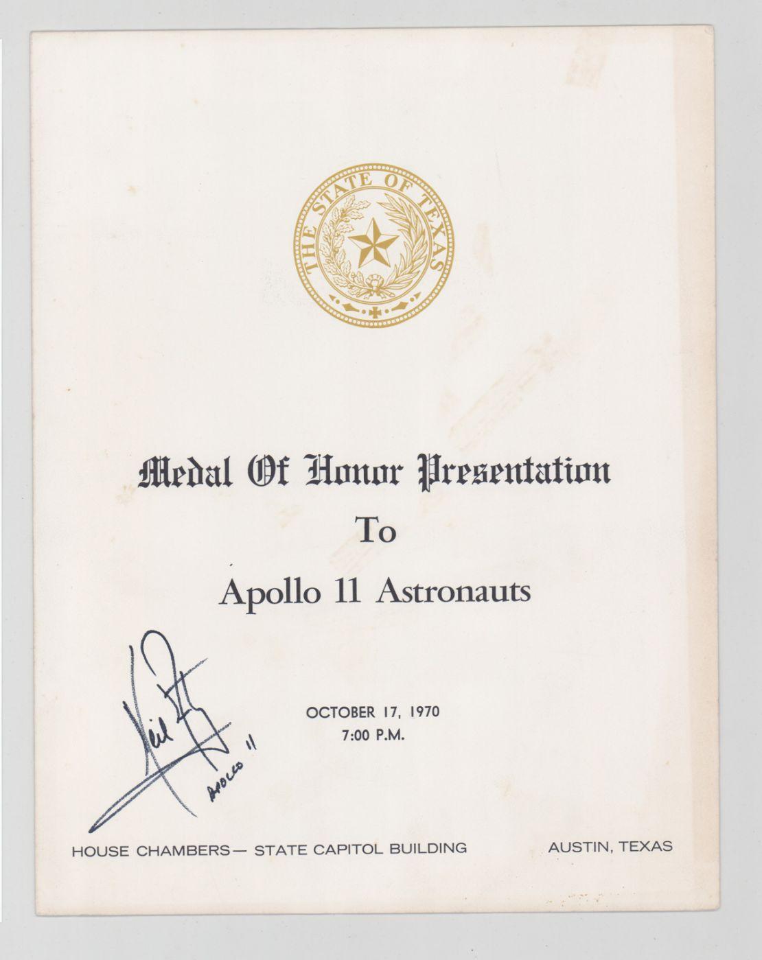 State of Texas Medal of Honor Presentation program
