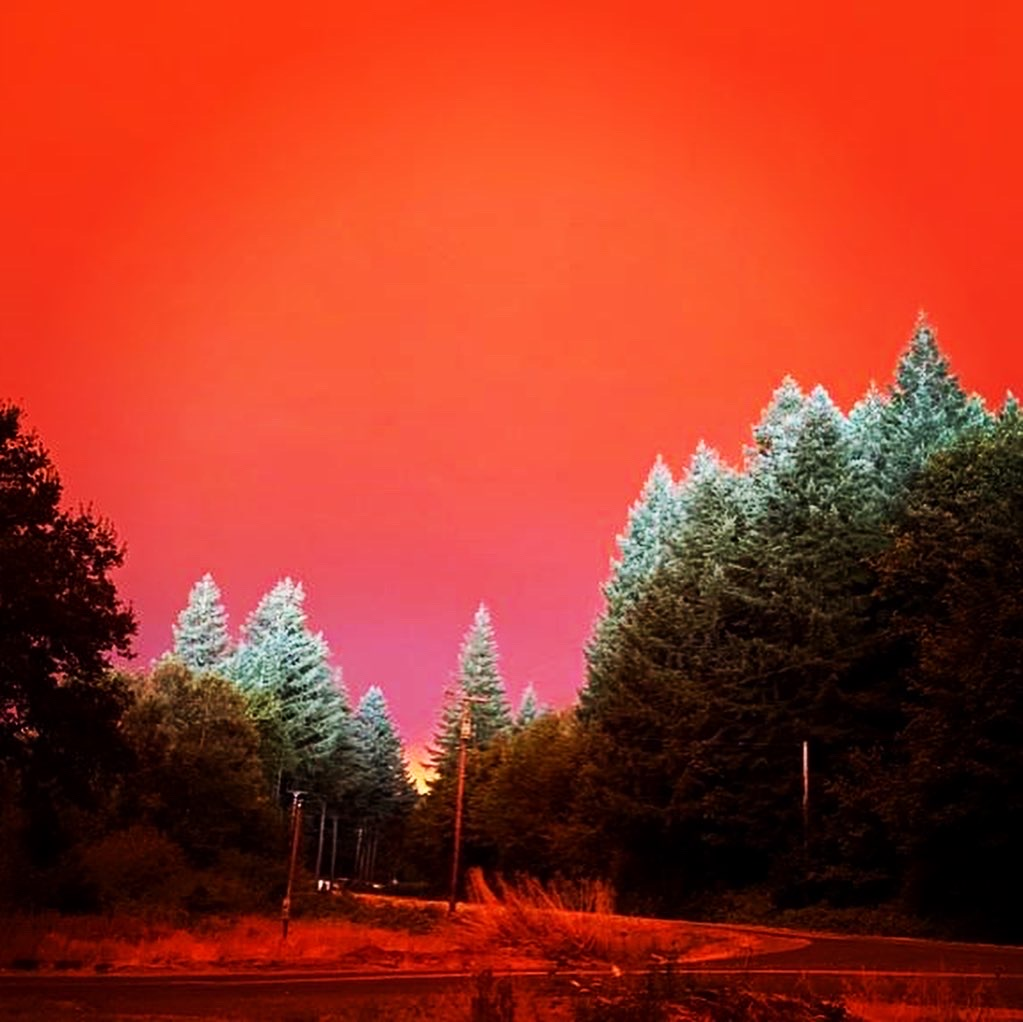 Red Oregon Fire Sky 2020