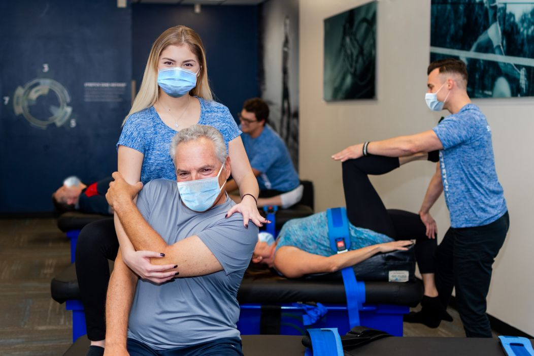 Stretch Zone practitioners do all the work for you