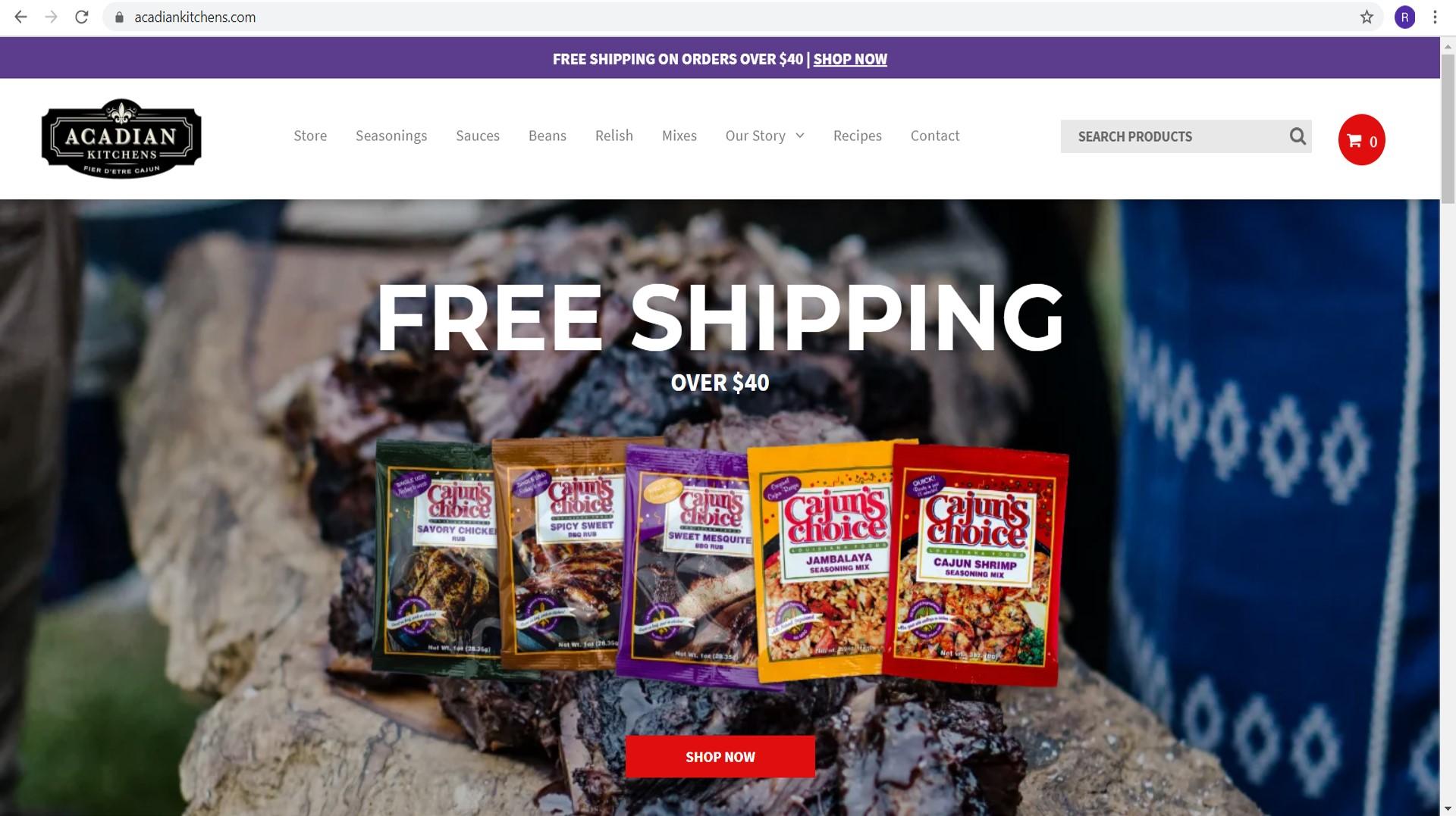 New Acadian Kitchens Website
