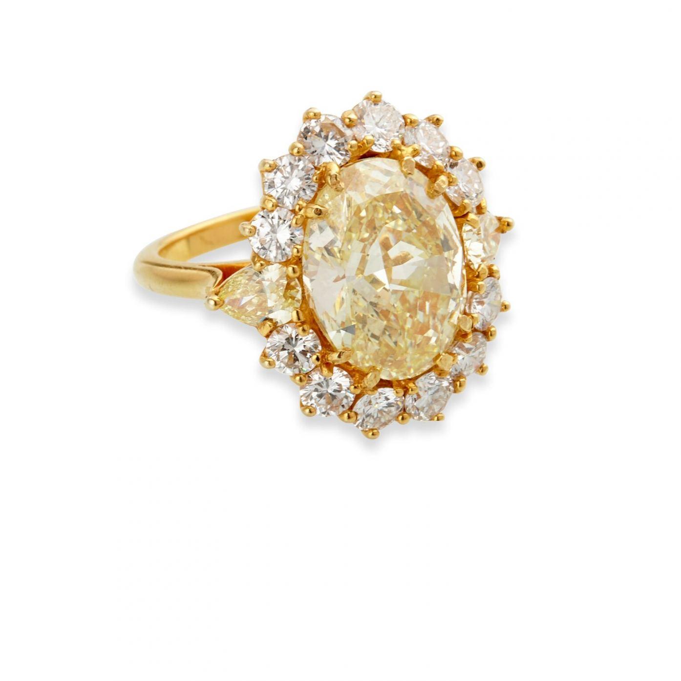 Tiffany 5.41-carat oval brilliant cut diamond ring