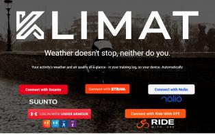 Klimat now supports Suunto, Nolio