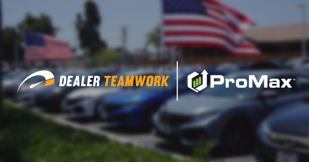 Dealer Teamwork, ProMax form strategic partnership