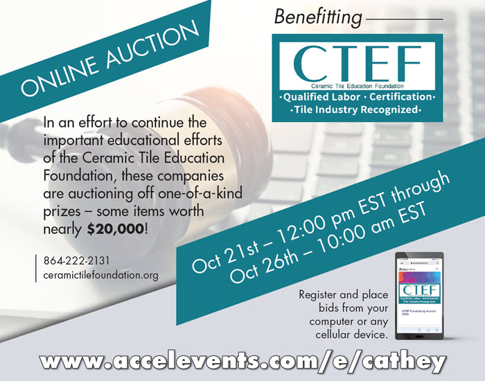 Online Auction to Benefit CTEF