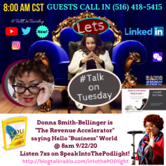 Donna Smith Bellinger at SpeakIntoThePODlight