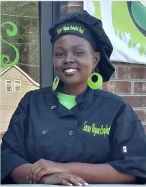 Chef Stephanie, Owner of Senses Vegan Comfort Food