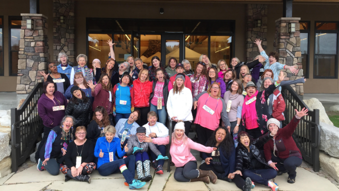 Group Photo from Women's Aha Camp
