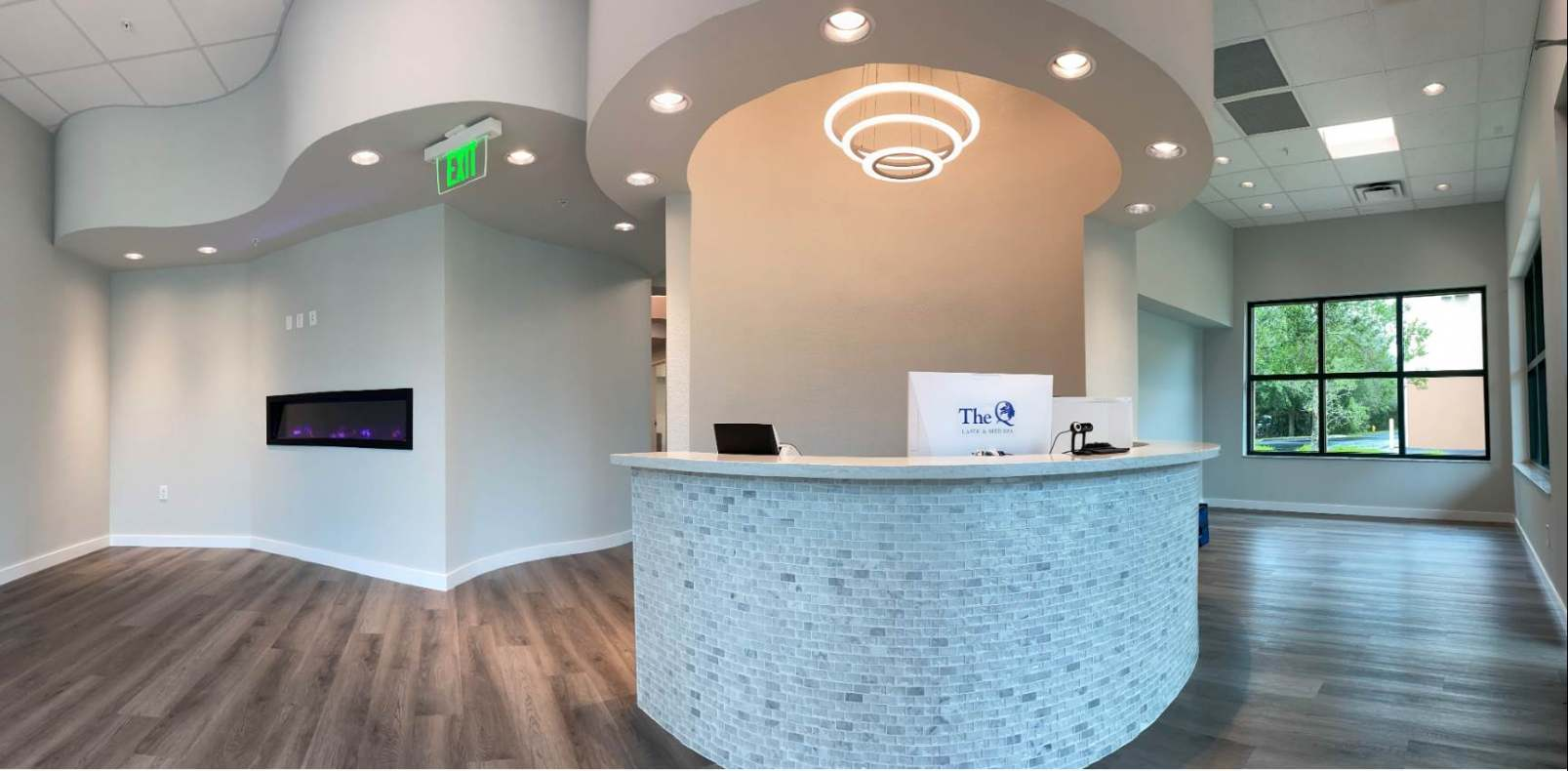 Reception Area Of Q Lasik Med Spa
