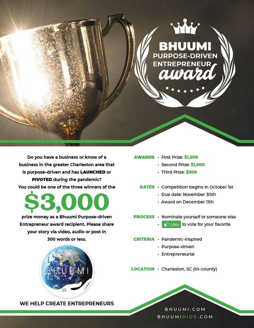 BHUUMI Purpose-Driven Entrepreneur Award