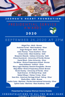 2020 JHF Presidential Award Recipients