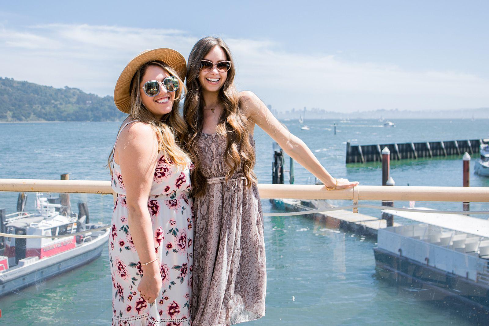 Guests enjoying the Tiburon Waterfront at Servino