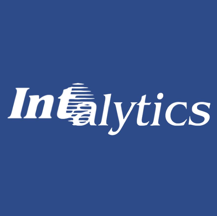 Intalytics Logo White Blue Background Png