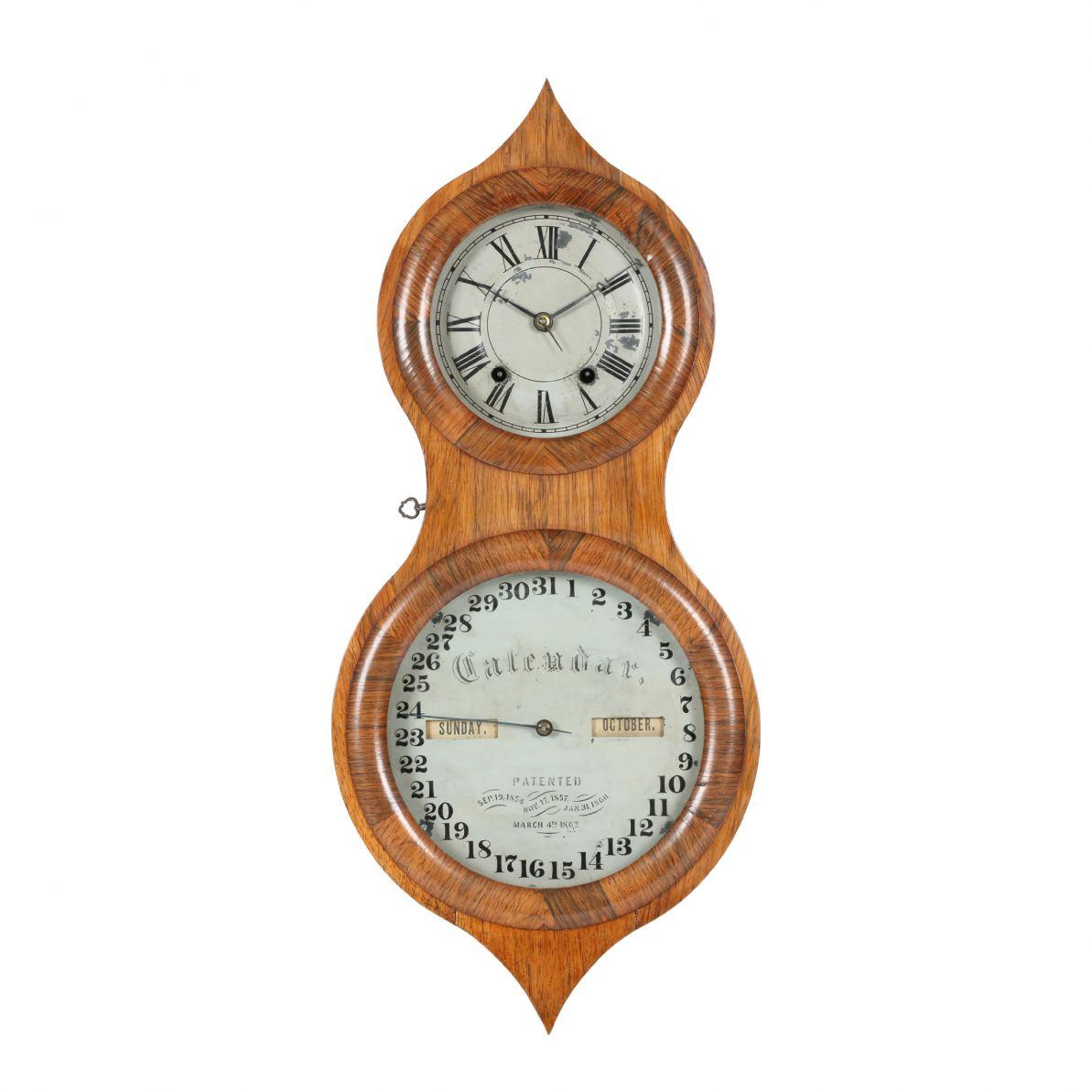 Seth Thomas double-door 1870s 'peanut' clock