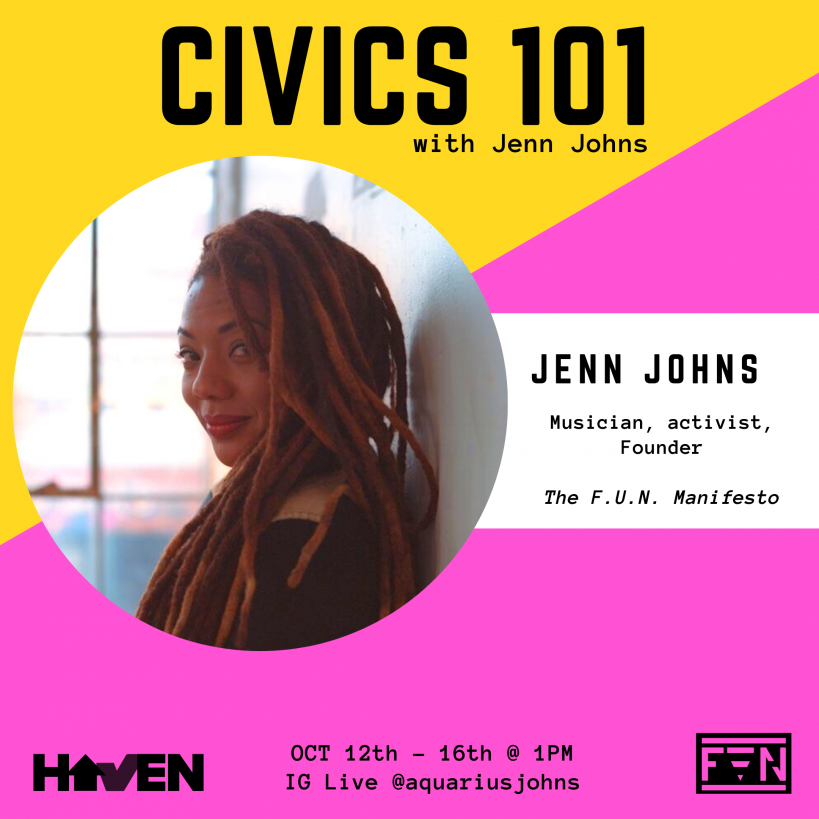 Civics 101 Host Jenn Johns