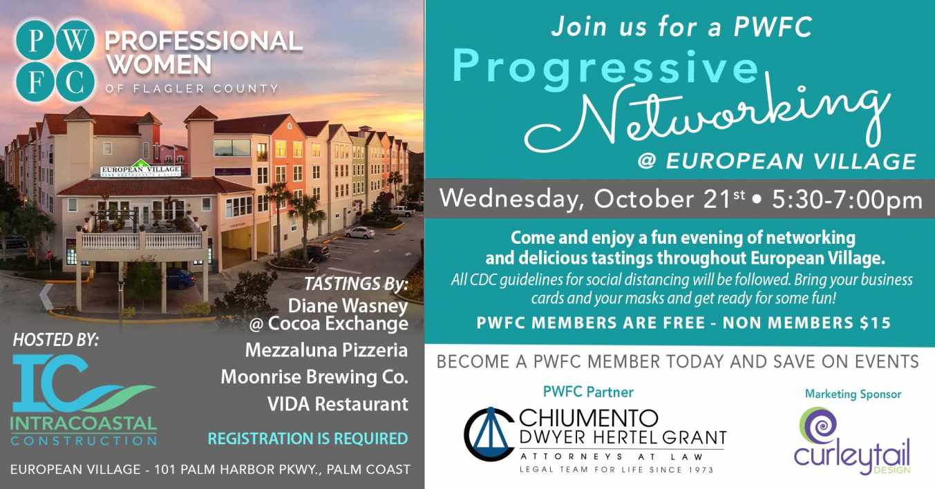 PWFC to host networking event in Palm Coast Oct 21