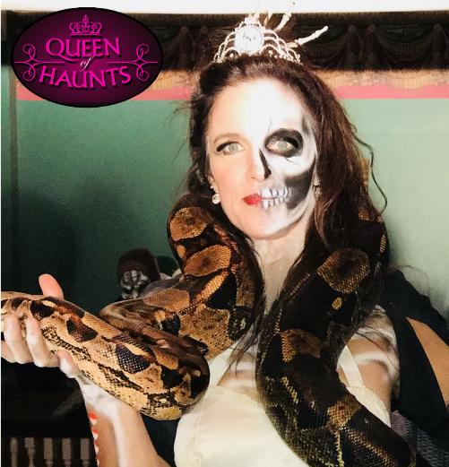 Queen of Haunts and her pet snake