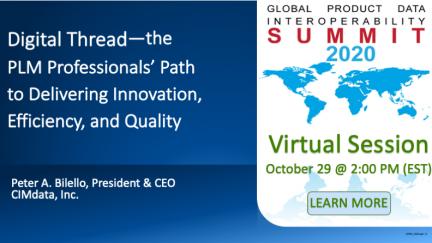 CIMdata at GPDIS Virtual Presentation Series