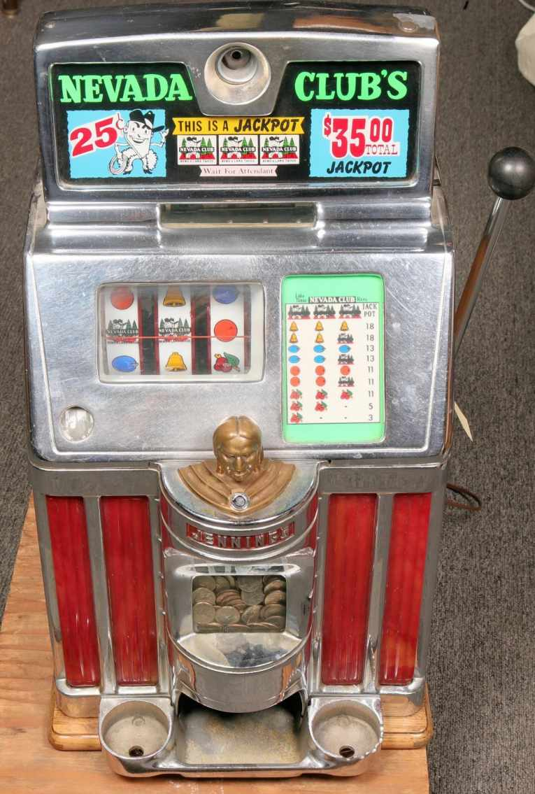 Slot machine from the famous Nevada Club Casino