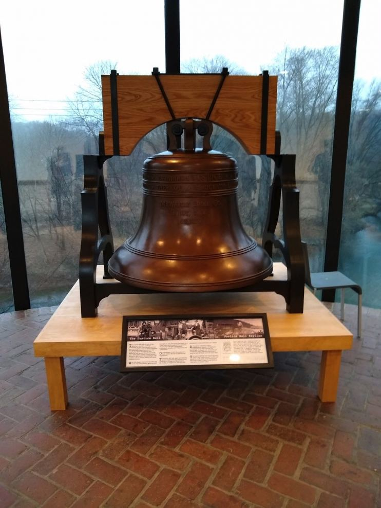 The Justice Bell replica