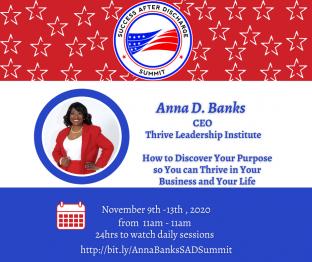 Anna D. Banks, www.ThriveLeadershipInstitute.com