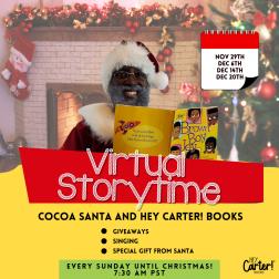 Hey Carter! Books Cocoa Santa Virtual Storytime