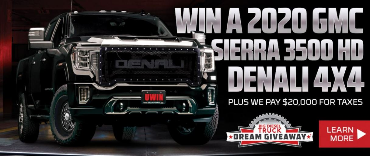 The Big Diesel Truck Dream Giveaway grand prize.
