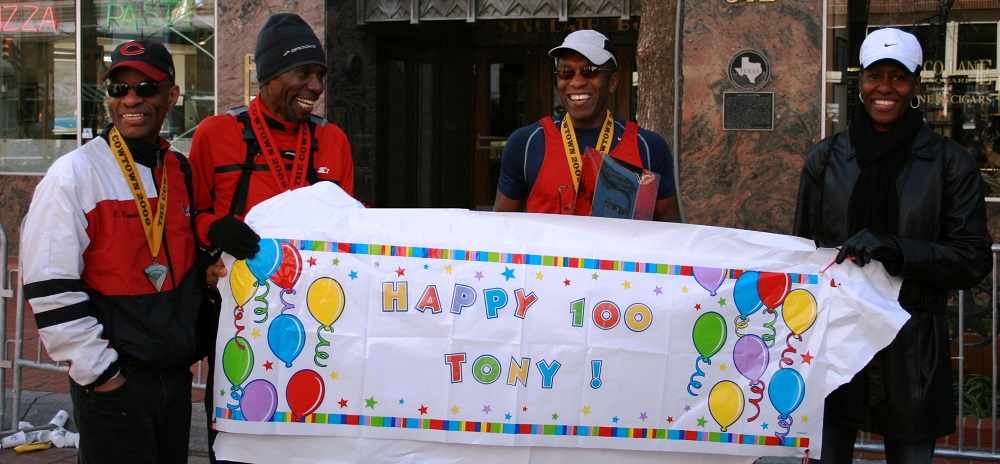 Anthony Reed Completing 100th Marathon