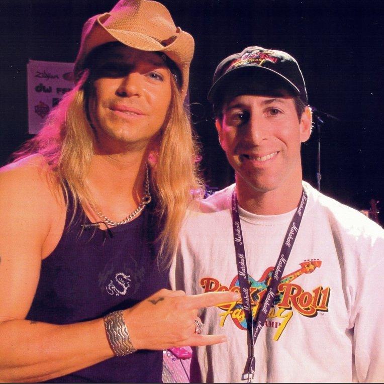 Harry Javer With Brett Michaels