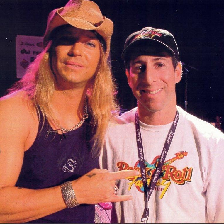 Harry Javer With Brett Michaels