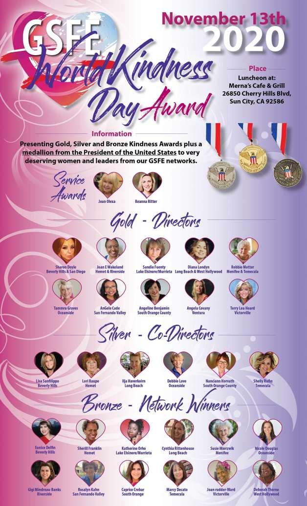 World Kindness Day Awards