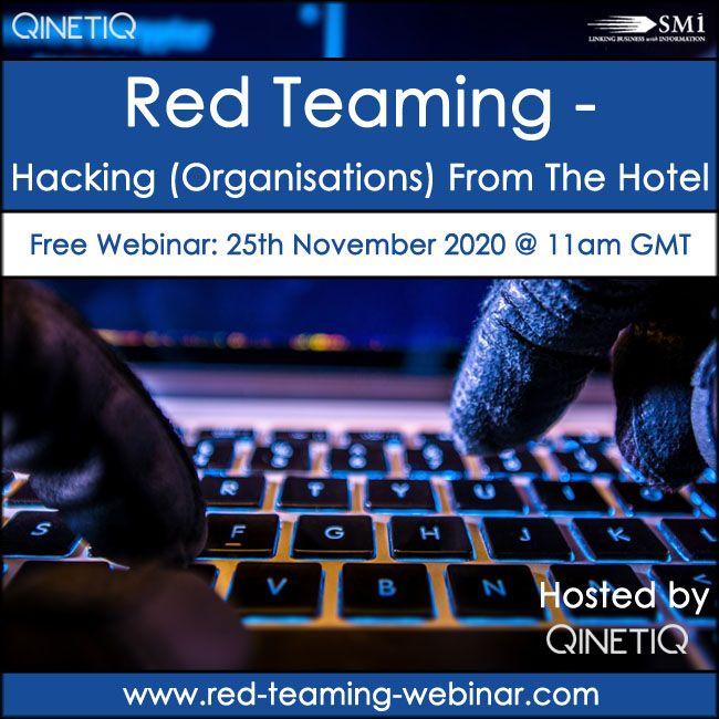 Red Teaming [Free Webinar]
