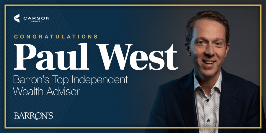 Congrats to Paul West on Barron's Accolade