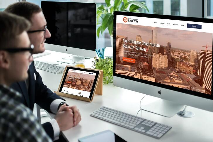 The new website for Construction Business Gateway