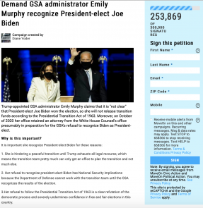 Diane Yoder's MoveOn Petition For Biden-Harris