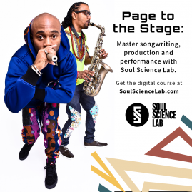 Page To The Stage Soul Science Lab Flyer