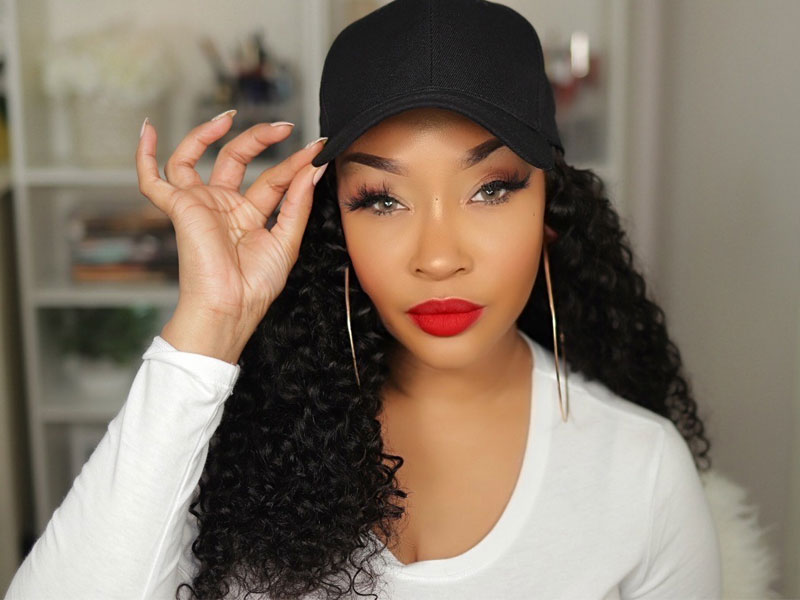 Curly Wave Hat Wigs 1