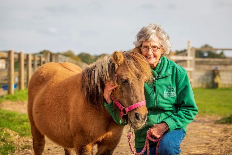 Esme Fordham with rescued Shetland Molly