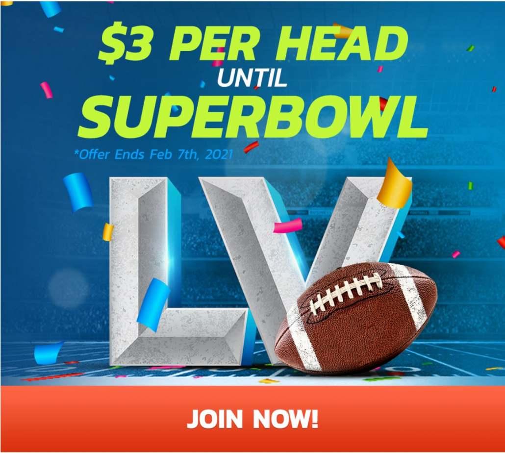 $3 Per Head Until Superbowl