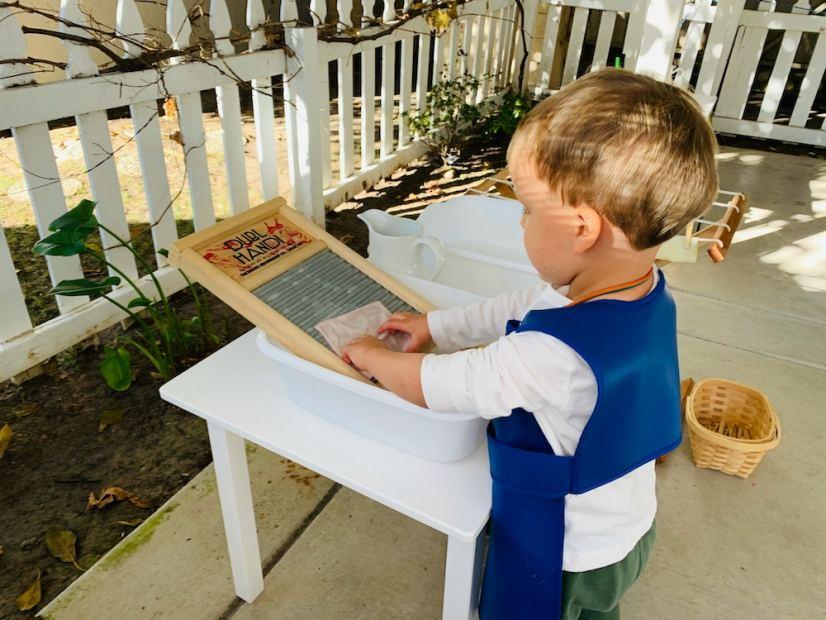 In Person Learning Outside La Jolla Montessori Sch