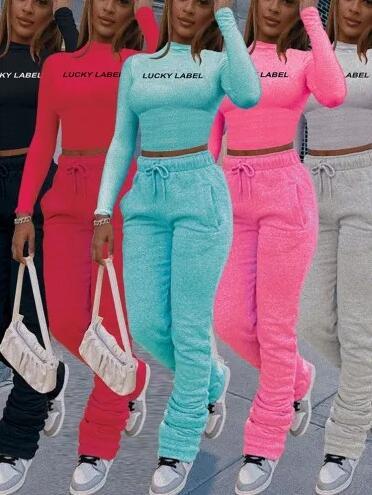 Stacked Pants Set