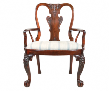 George II Anglo-Chinese Huanghuali Armchair, 1740.