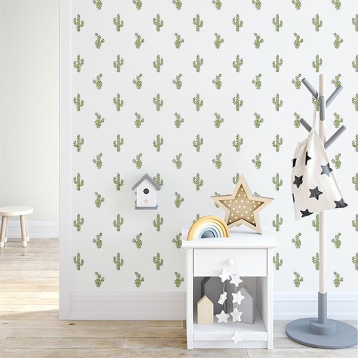 Cute Cactus Wallpaper Kids Room