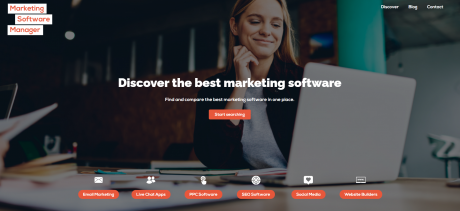 Marketing Software Manager Homepage