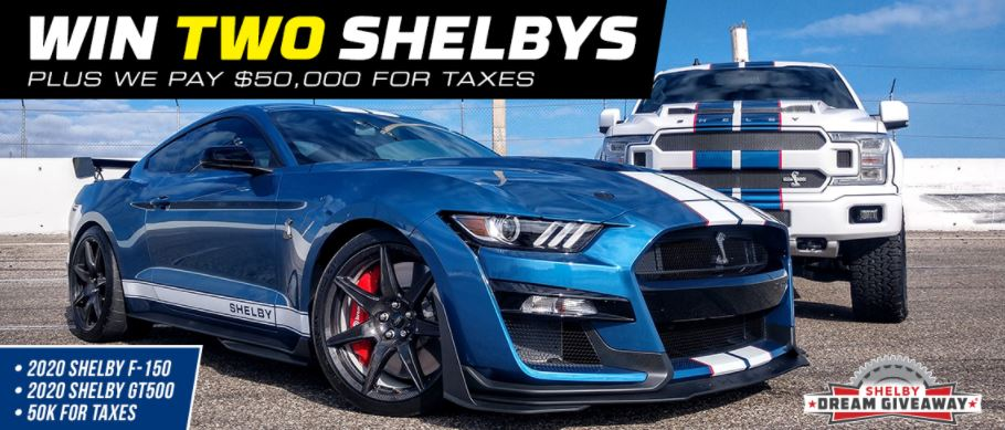 The Shelby Dream Giveaway grand prize package.