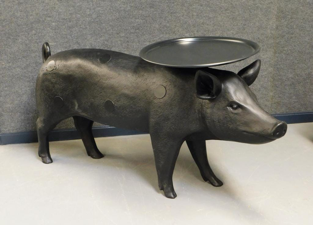 Mooi pig table by the Swedish Design team Front.