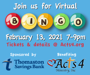 Acts 4 to benefit from Virtual Bingo Fundraiser