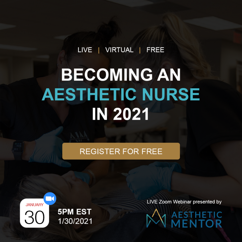 Free educational webinar by Aesthetic Mentor