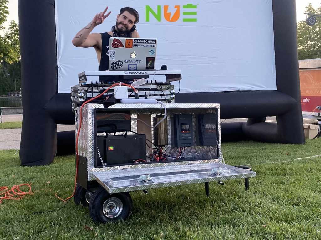SunKit™ powering DJ setup