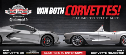 2021 Corvette Dream Giveaway grand prize Vettes.