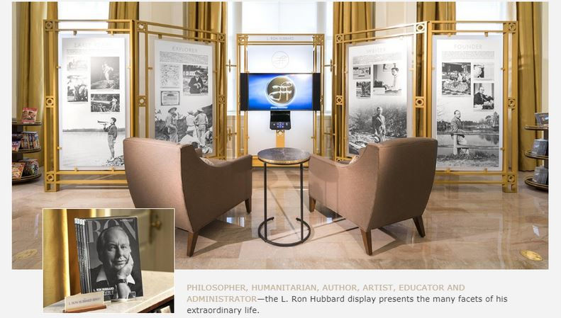 The Scientology Info Center L. Ron Hubbard Display